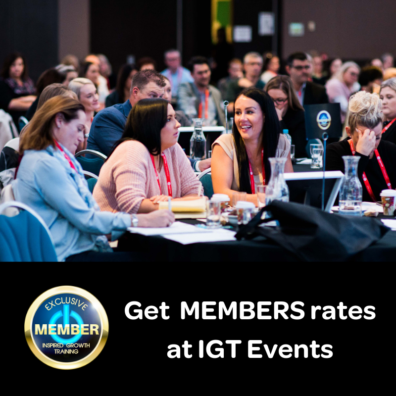 Get member rates at IGT events