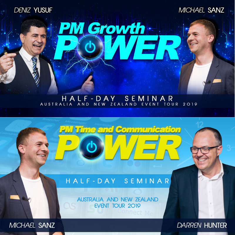 PM Growth Power Tour Australia and New Zealand half day training for BDM staff rent roll growth
