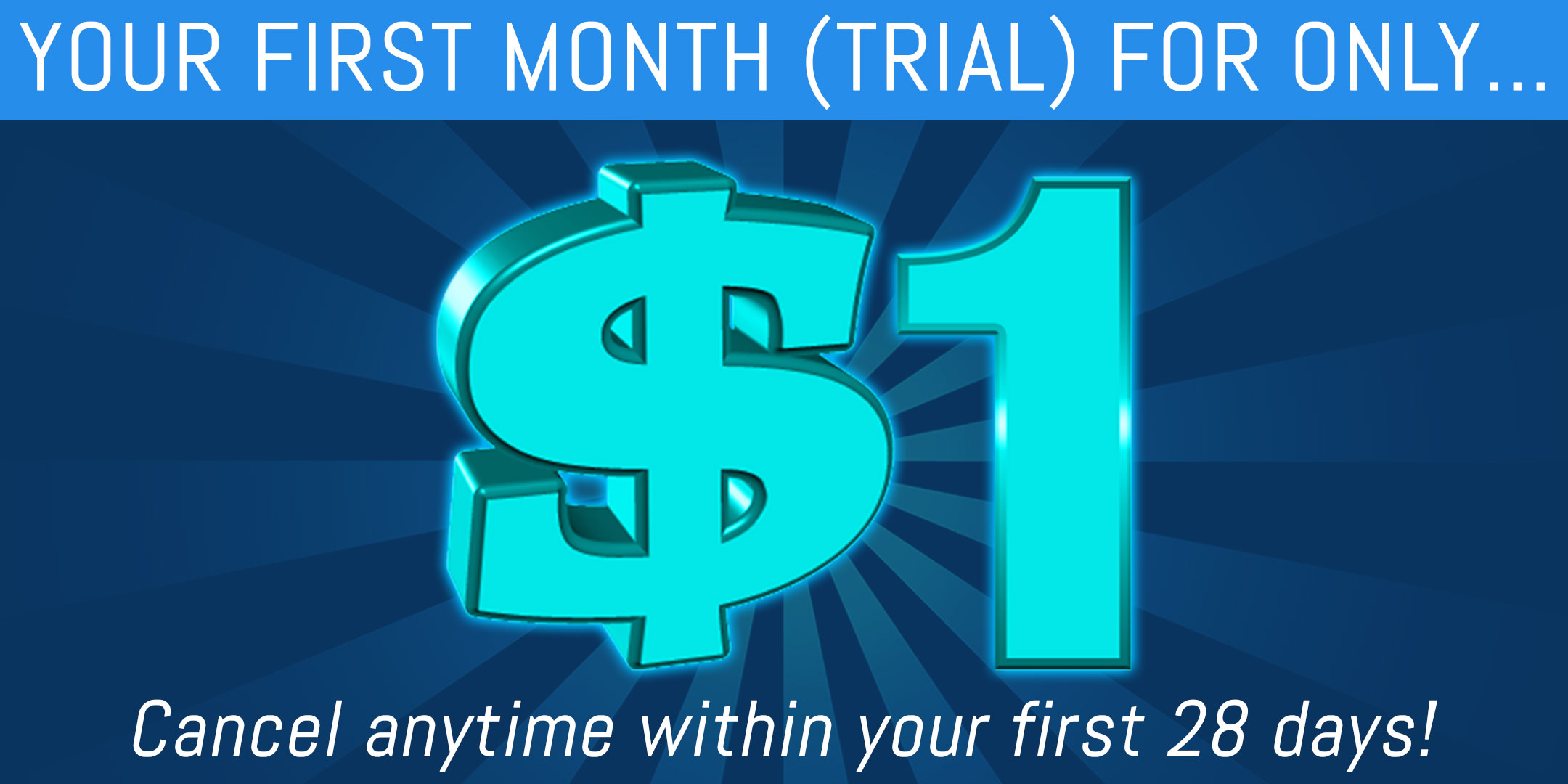 Your first month free