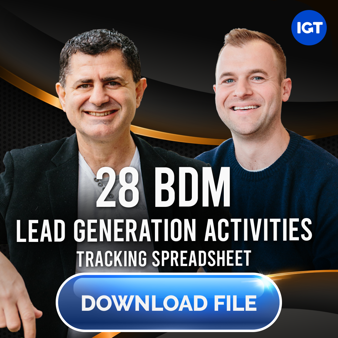 28 Key BDM Lead Generating Activities FREE DOWNLOAD