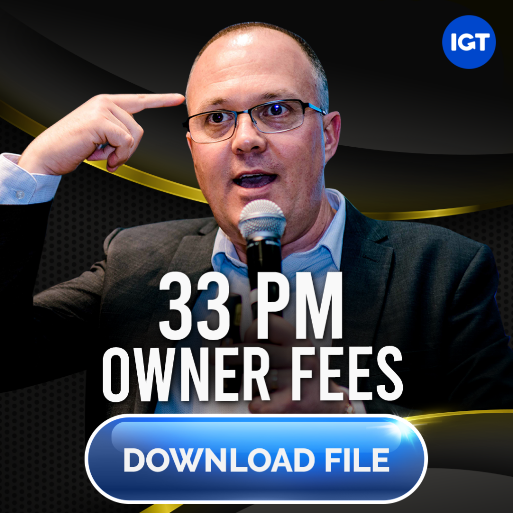 33 owner fees - Make more with the owners you have right now