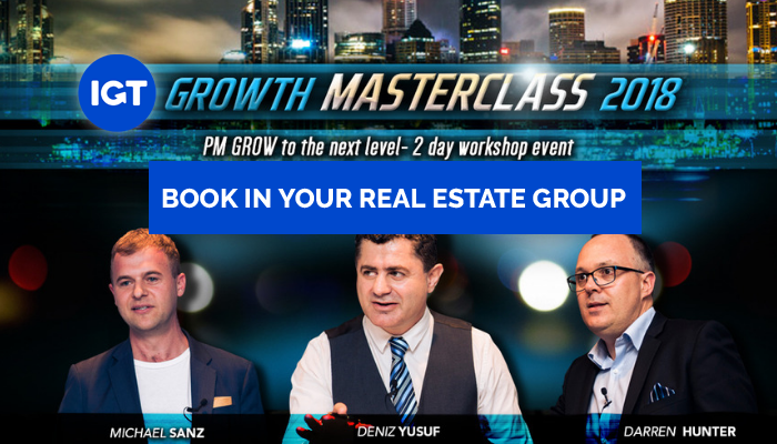 Growth Masterclass 2 day workshop for Property Management Business Leaders