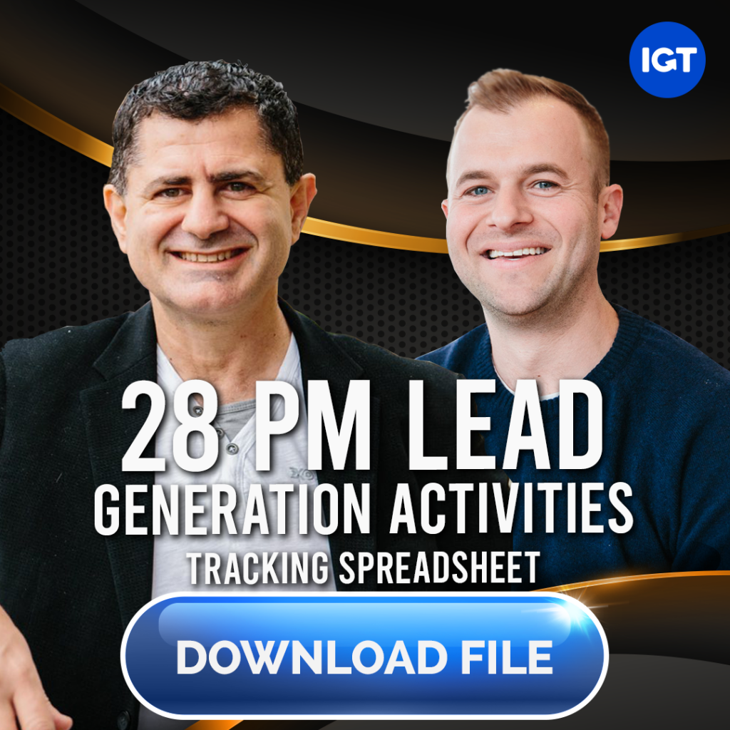 28 Key BDM Lead Generating Activities- FREE DOWNLOAD
