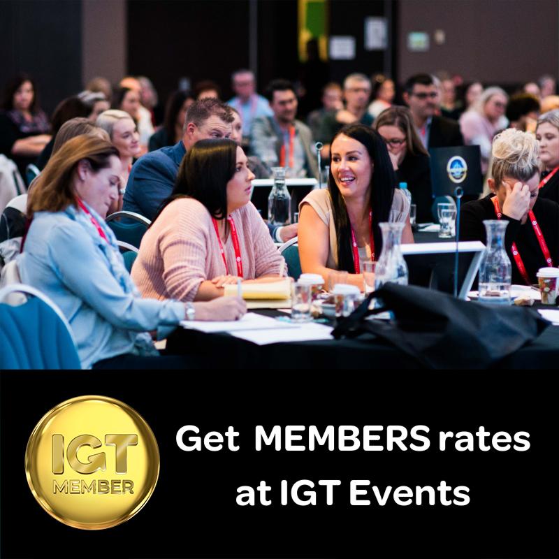 Get member rates at IGT events