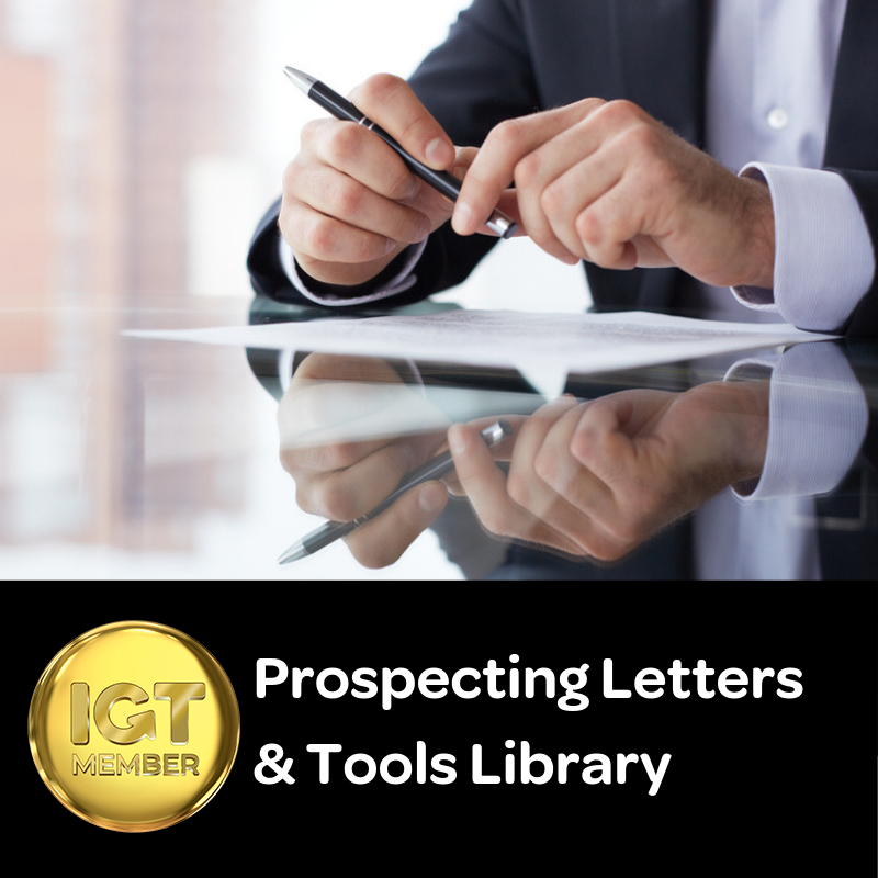 Prospecting Letters and Tools Library for BDMs